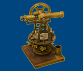 Antique measuring instrument of surveying and alignment
